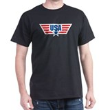 USA Star and Stripes Wings  T-Shirt