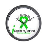 With All My Heart Lymphoma Wall Clock