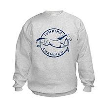 "Jumping Horse ""Jumping Champion"" (Blue) Sweatshirt"