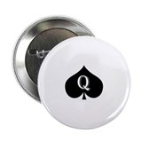 "Queen of spades 2.25"" Button (100 pack)"