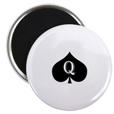 "Queen of spades 2.25"" Magnet (10 pack)"
