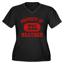 Property Of Brayden Women's Plus Size V-Neck Dark