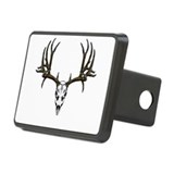 European mount mule deer Rectangular Hitch Cover