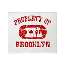Property Of Brooklyn Throw Blanket