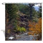 Logan Canyon river Shower Curtain