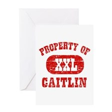 Property Of Caitlin Greeting Card