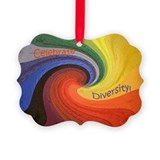 Celebrate Diversity Picture Ornament