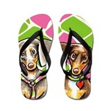 Dashing Dapples Flip Flops