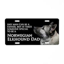 Elkhound Dad Aluminum License Plate