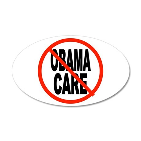 OBAMACARE FOR SENIORS 35x21 Oval Wall Decal