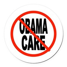 OBAMACARE FOR SENIORS Round Car Magnet