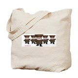 Soviet Red Army Kittens Tote Bag