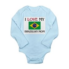 Cute Brazilian Long Sleeve Infant Bodysuit