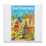 San Francisco Travel Poster 2 Tile Coaster
