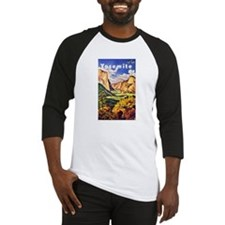 Yosemite Travel Poster 2 Baseball Jersey