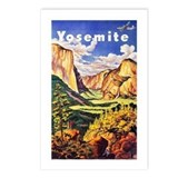 Yosemite Travel Poster 2 Postcards (Package of 8)