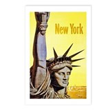 New York Travel Poster 4 Postcards (Package of 8)
