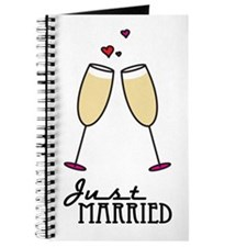 Just Married Champagne Toast Journal