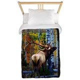 Trophy bull elk Twin Duvet