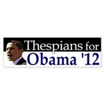 Thespians for Obama 2012 Bumper Sticker