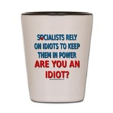 Socialist Idiots Shot Glass