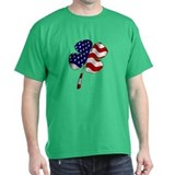 Boston Irish American Clover T-shirt