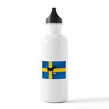 Sweden Soccer Elk Flag Water Bottle