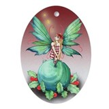 Little Christmas Fairy Ornament (Oval)