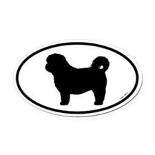 Shih Tzu Oval Car Magnet