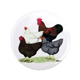 "Plymouth Rock Chickens 3.5"" Button (100 pack)"