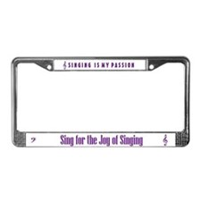 Sing License Plate Frame