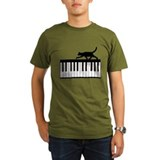 Cat and Piano v.1 T-Shirt