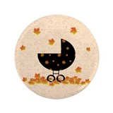 "Autumn Baby Carriage 3.5"" Button"