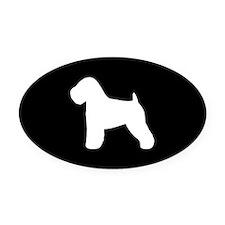 Wheaten Terrier Oval Car Magnet