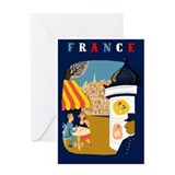 France Travel Greeting Card