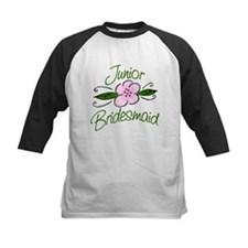Jr. Bridesmaid Pink Flower Tee