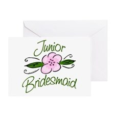 Jr. Bridesmaid Pink Flower Greeting Card