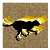 "Cheetah Square Car Magnet 3"" x 3"""
