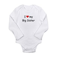 Cute My little sister Long Sleeve Infant Bodysuit