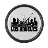 Los Angeles Skyline Large Wall Clock