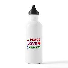 Peace Love Cricket Designs Water Bottle