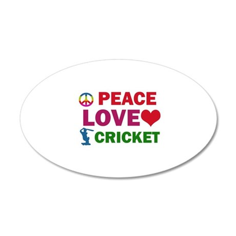 Peace Love Cricket Designs 20x12 Oval Wall Decal