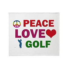 Peace Love Golf Designs Throw Blanket