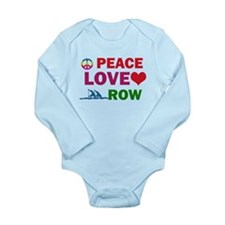 Peace Love Row Designs Long Sleeve Infant Bodysuit