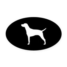 Vizsla Oval Car Magnet