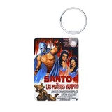 Santo vs. Vampire Aluminum Photo Keychain