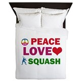 Peace Love Squash Designs Queen Duvet