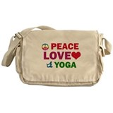 Peace Love Yoga Designs Messenger Bag