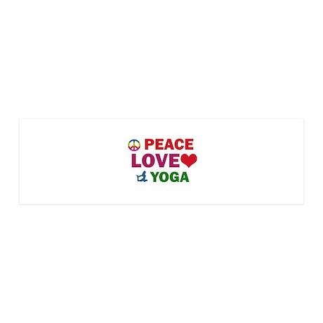 Peace Love Yoga Designs 36x11 Wall Decal