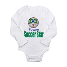 Funny Brazil baby Long Sleeve Infant Bodysuit
